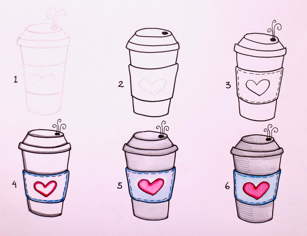 @mariebcreates #coffeeaddict #tea Step out drawing