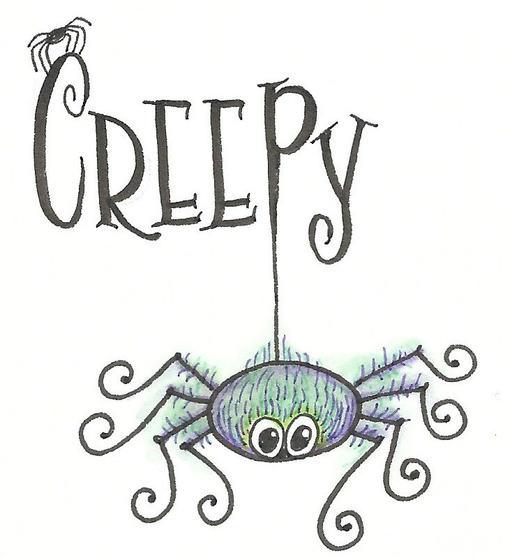 Halloween Doodle @mariebrowning #Halloween #spider