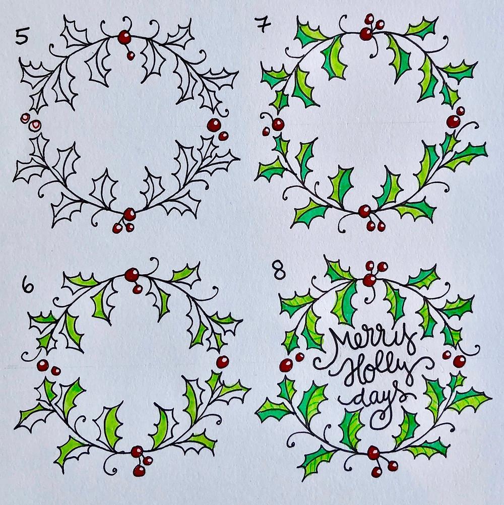 @mariebcreates #doodles #monodrawingpens coloring the doodles