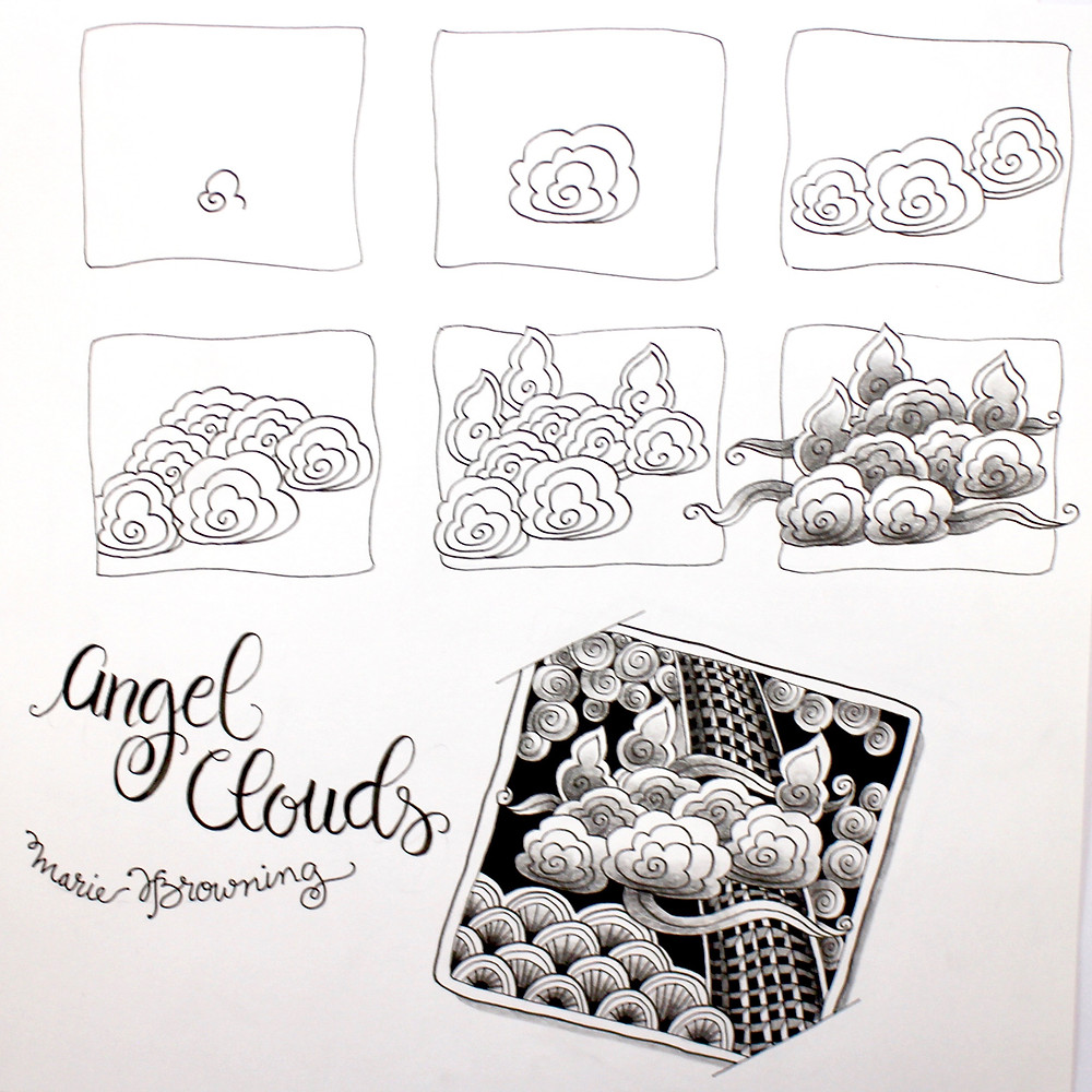 @mariebcreates angel clouds step out #zendoodle #tombowusa