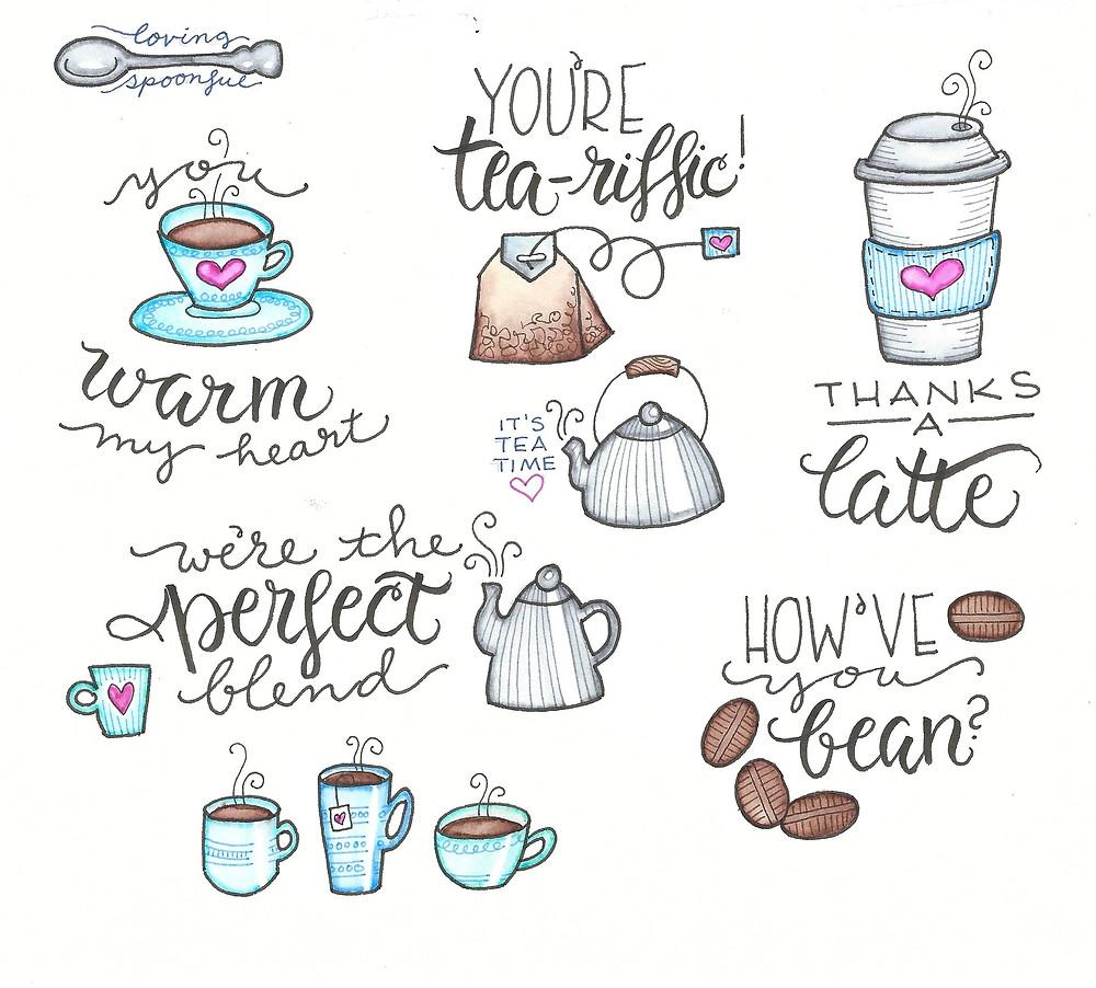 @mariebcreates #latteart #tombowusa more coffee and tea doodles