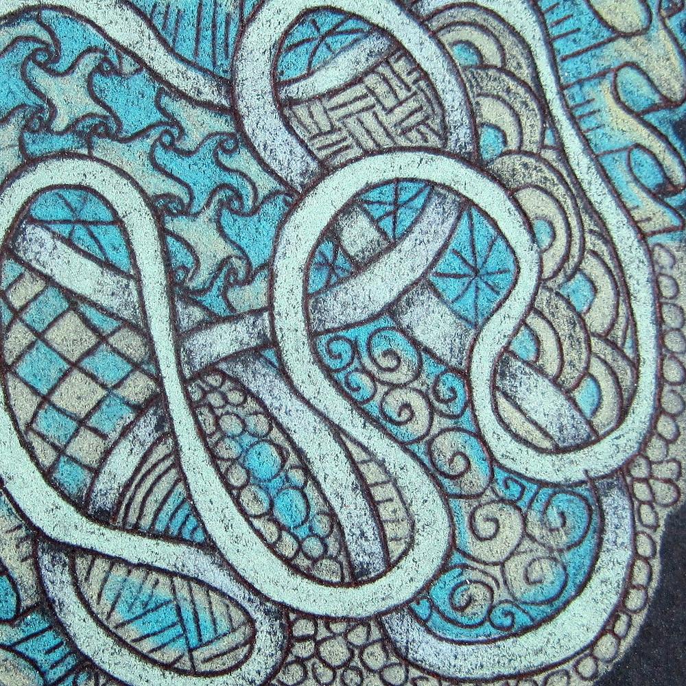 @mariebcreates #mariebrowning #Zentangle Black magic sample