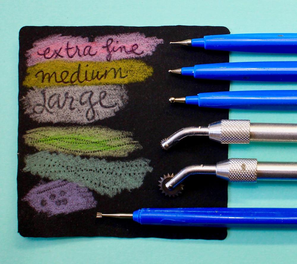 @mariebcreates #embossing variety of embossing tools