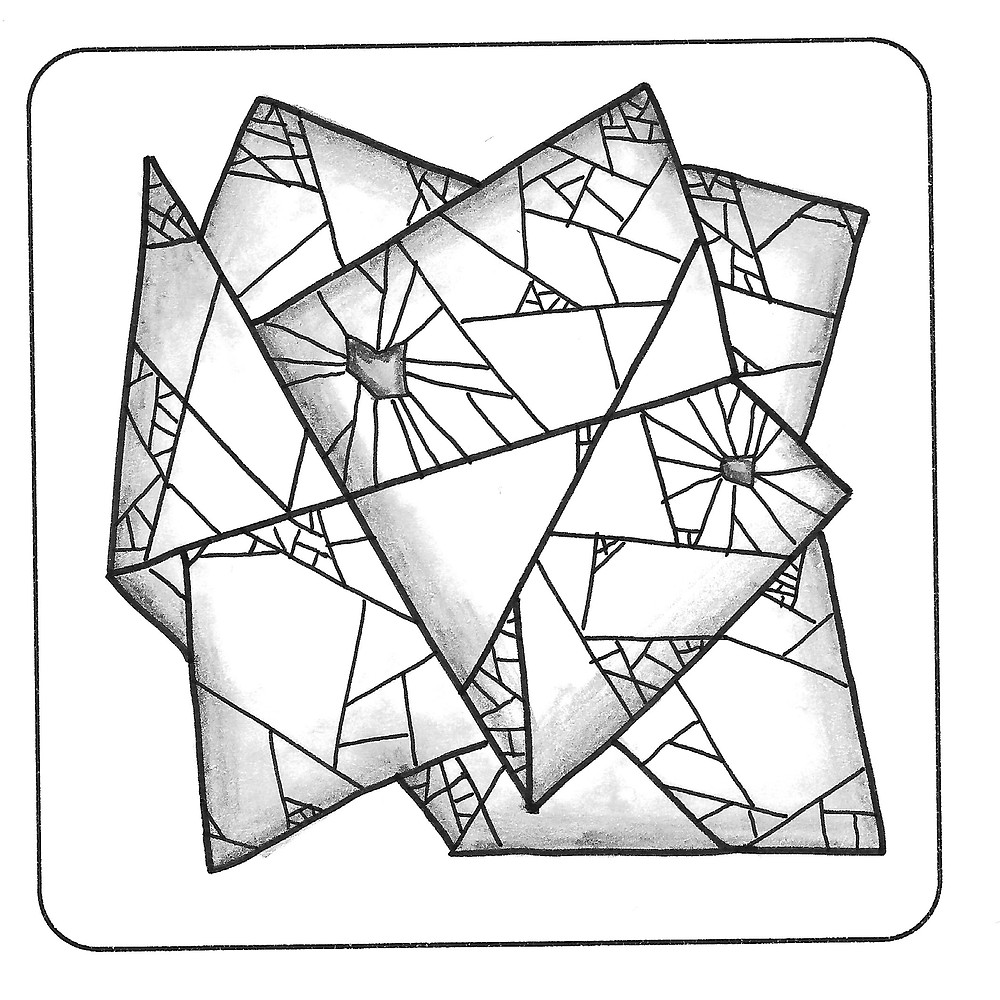 @mariebcreates Voronoi Fractal #zentangleart