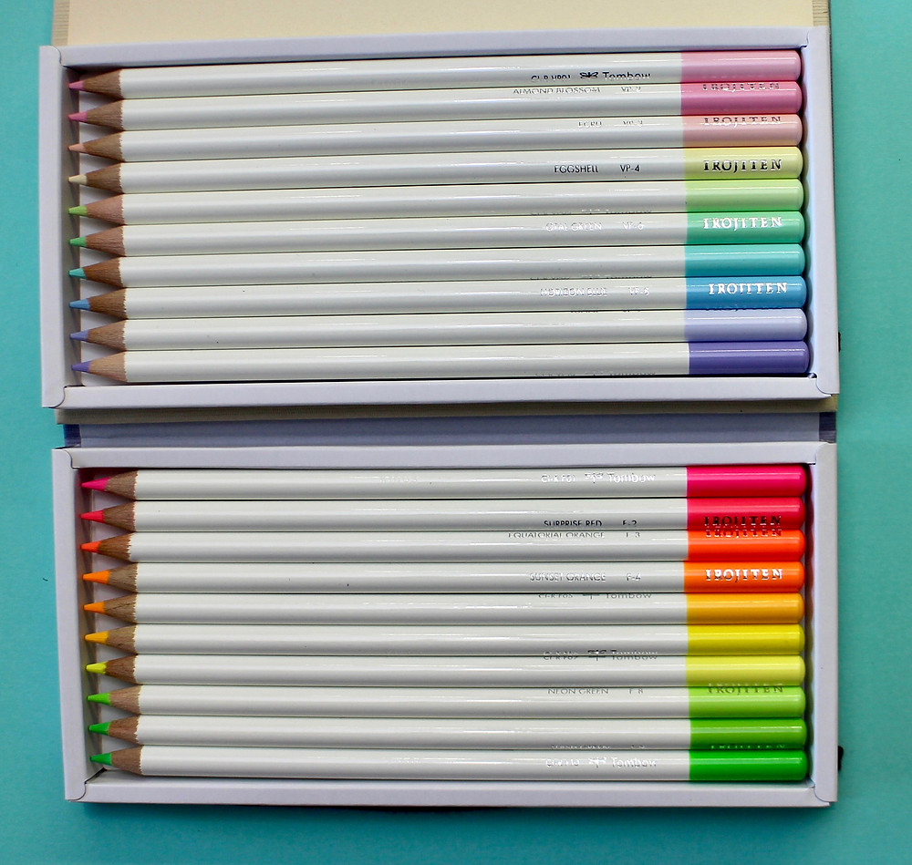 @mariebcreates #irojiten Tombow's Irojiten colored pencils