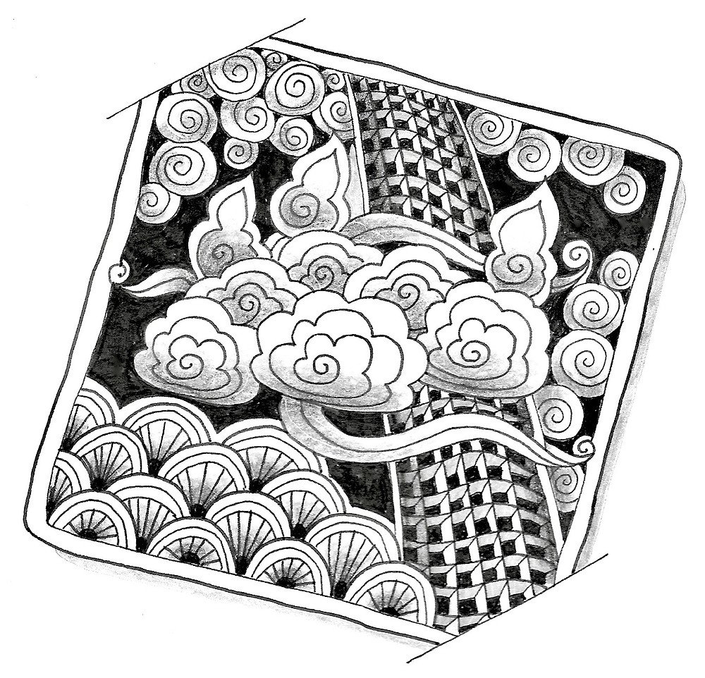 @mariebcreates #zentangle New Tangle created by Marie Browning