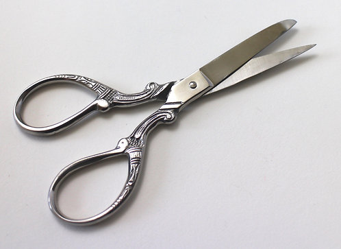 "5"" Precision Ornate Scissors in Silver"