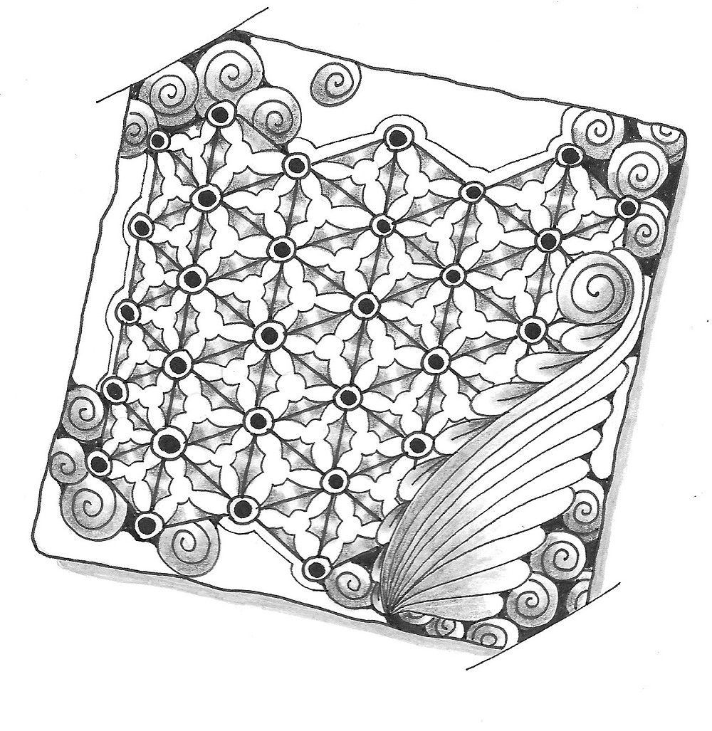 @mariebcreates Po Lin Tangle created by Marie Browning