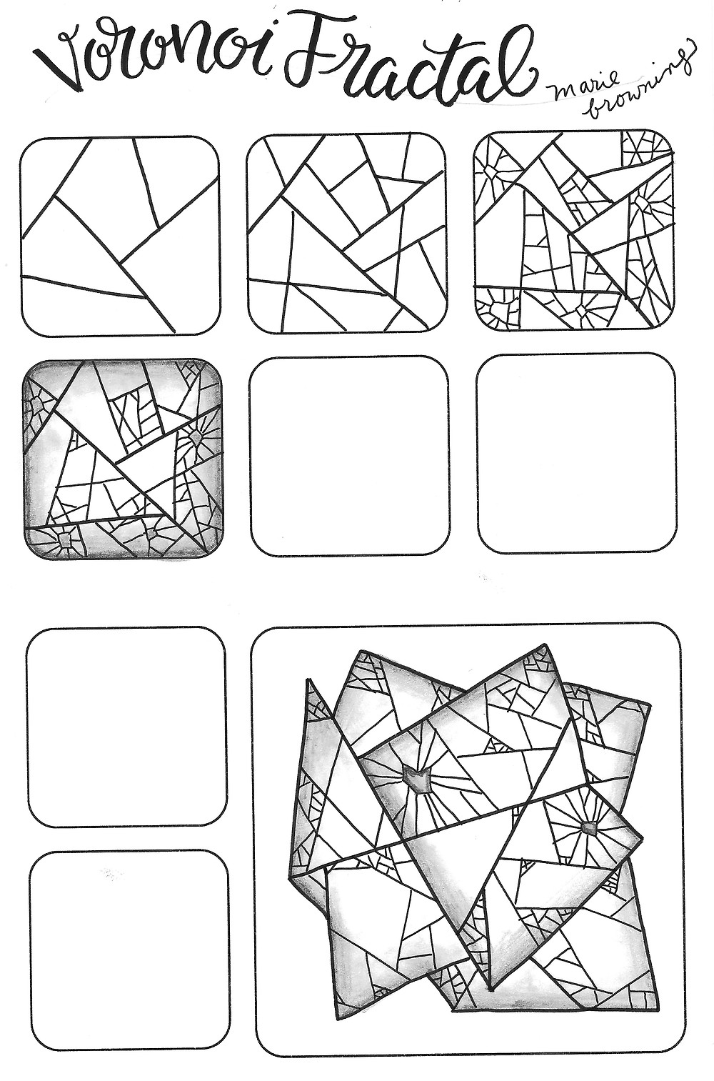 @mariebcreates voronoi fractal #monodrawingpens