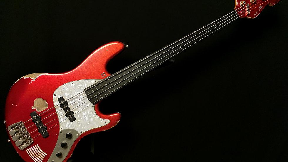 SANDBERG MARLOWE DK-4 Fretless Metallic Red