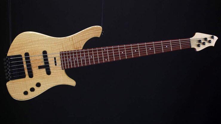 Le Fay Bass HERR SCHWARZ 5 HEADLESS Figured ash Top