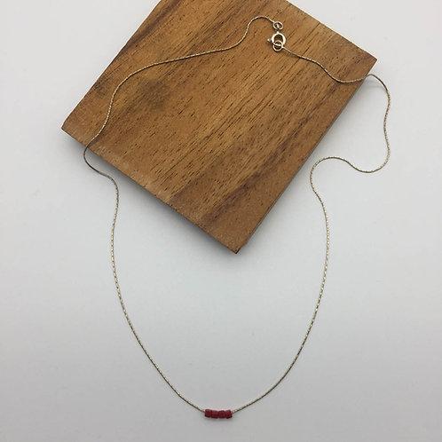 Collier chaîne serpentine en argent et cube