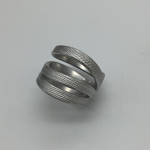 Bague en fil aluminium :: Model 4