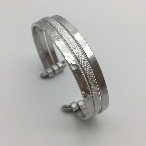 Bracelet en aluminium 3 rangs :: Model 1
