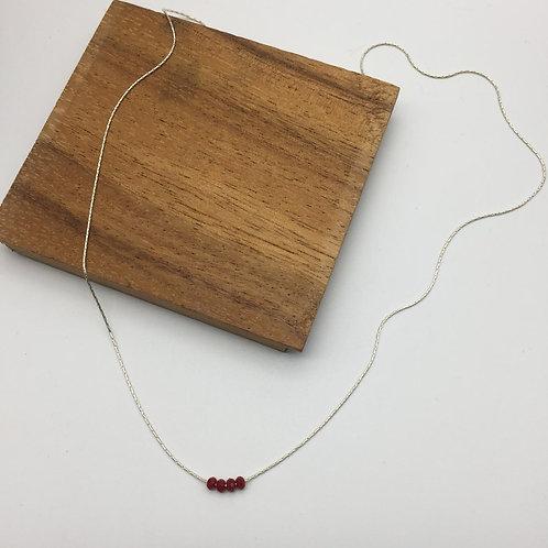 Collier chaîne serpentine en argent et strass
