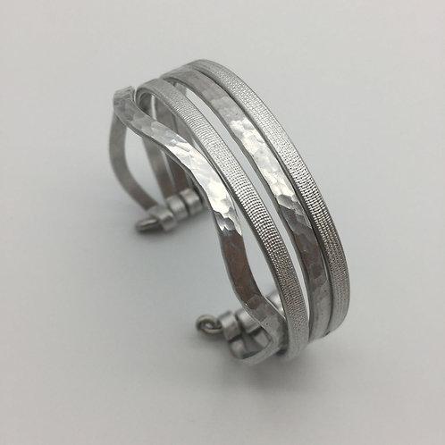 Bracelet en aluminium 4 rangs :: Model 2