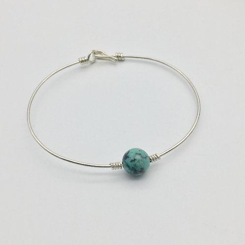 Bracelet en argent avec perle 8mm