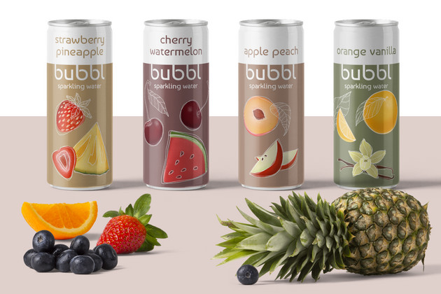 Sparkling Water Brand Concept