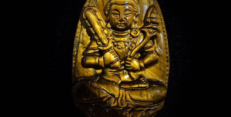 仏の彫刻 タイガーアイ(虚空蔵菩薩)