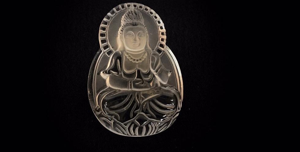 仏の彫刻 水晶(観音菩薩)