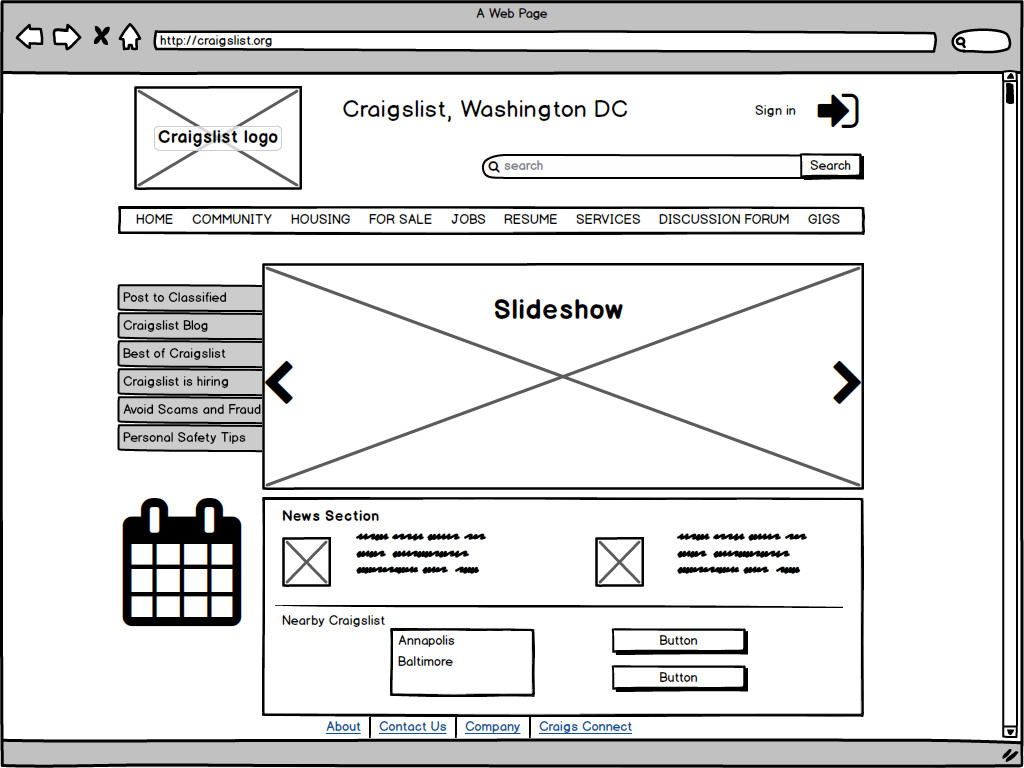 Usability prototype redesign