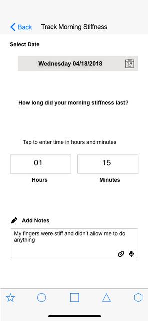 Tracked stiffness screen