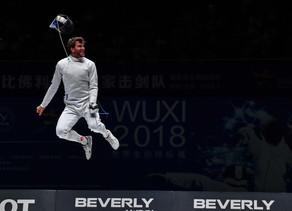 WM-Gold für das Degen Herren Team in Wuxi (CHN), 26.07.2018