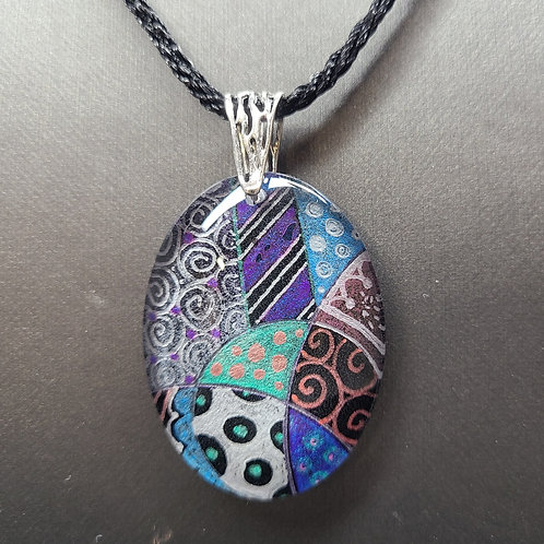 Glass and Resin Pendant