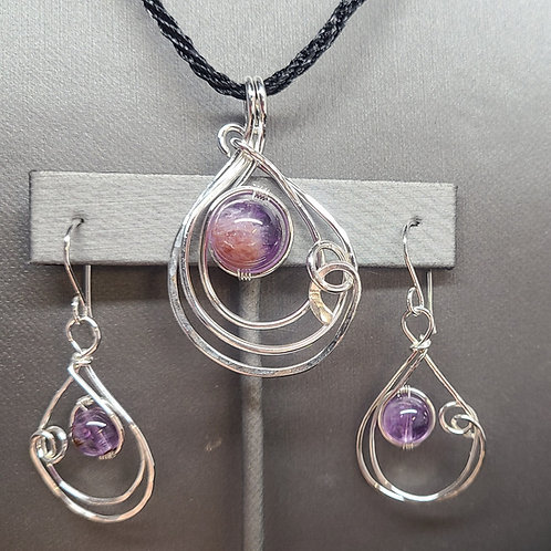 Super 7 Pendant and Earrings