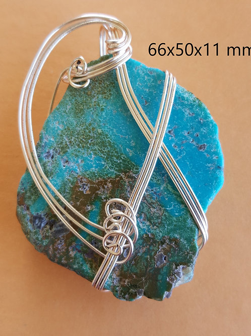 Turquoise Wrapped Pendant
