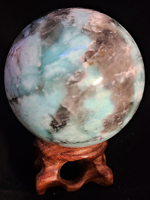 Amazonite & Smokey Quartz Sphere