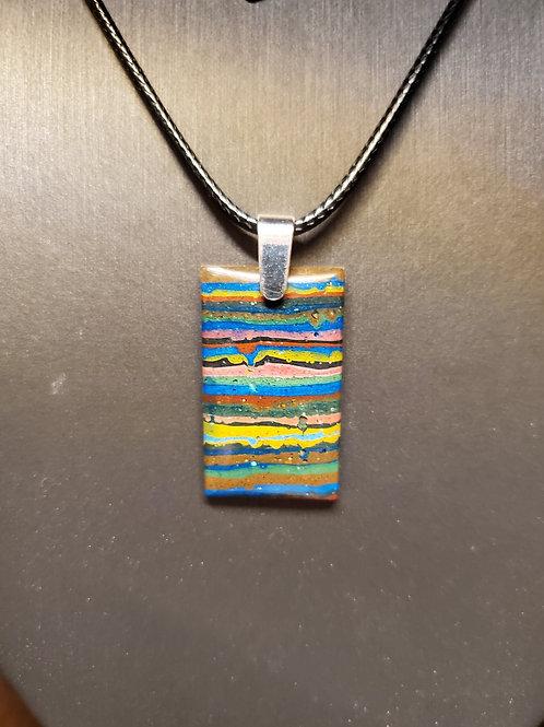 Rainbow Calsilica Pendant