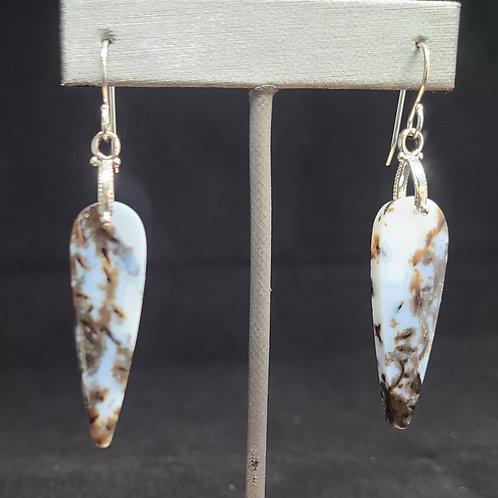 Agatized Wood Earrings