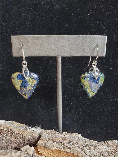 Azurite and Malachite Earrings
