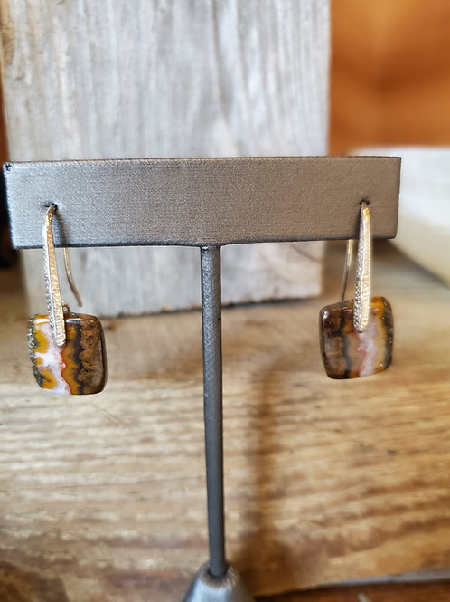 Seam Agate Earrings