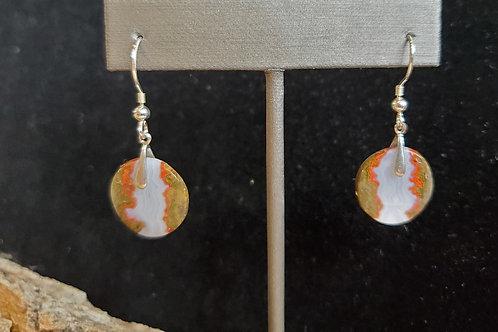 Seam Agate Earrings
