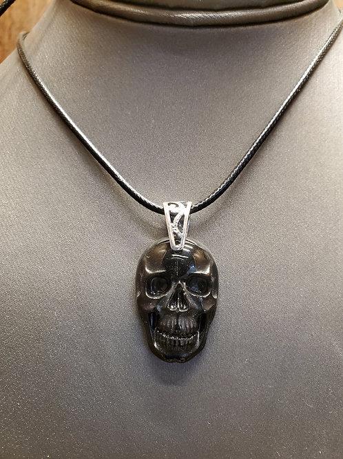 Obsidian Skull Pendant