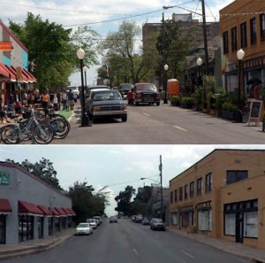 Dallas' first complete street during Tyler Better Block