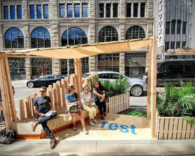 Spin Spot Parklet Design Competition