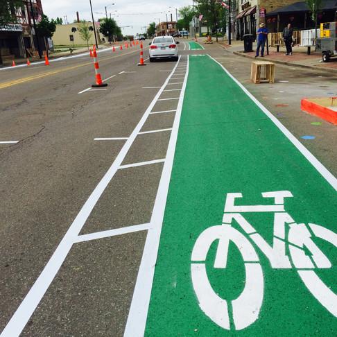 How to create a green bike lane