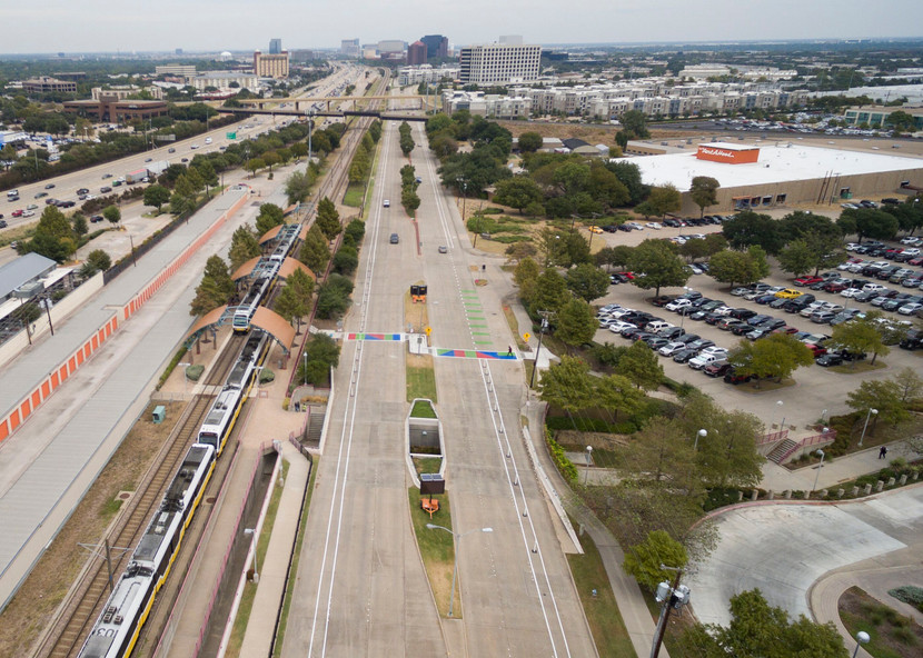 Richardon, Texas Bike Lanes birdseye
