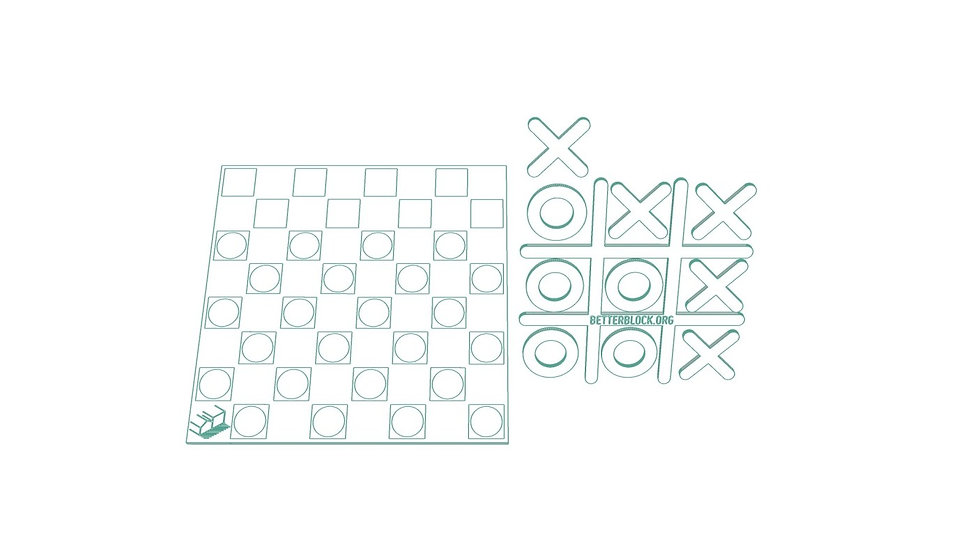 Checkers and Tic-Tac-Toe Board