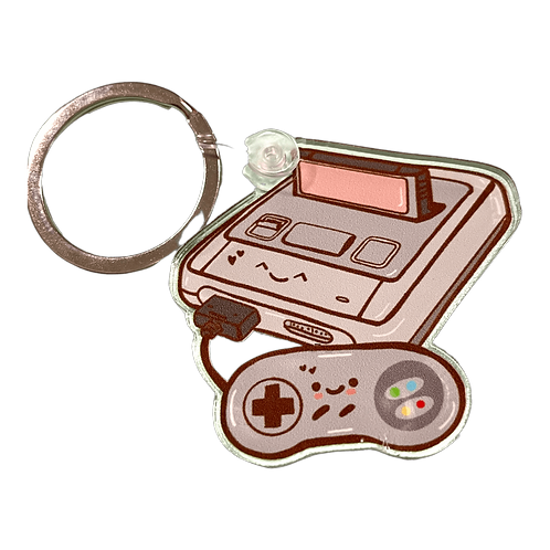 Kawaii Happy Console Keyring