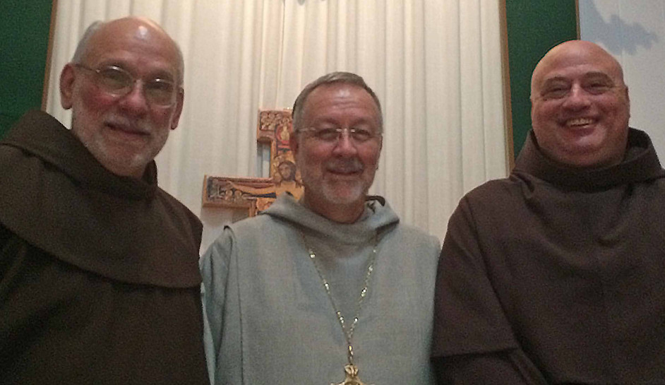 Fr. Alex Oneto, Bp Michel, and Fr. Mike