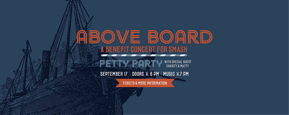 Above Board Benefit Concert for Smash Banner Graphic