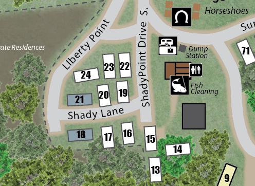 Shady Lane Map Image