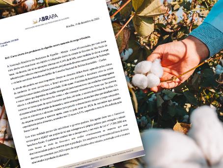 Carta aberta dos produtores de algodão contra aumento de carga tributária.