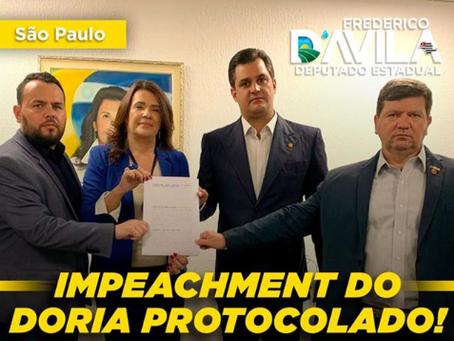 Novo pedido de impeachment de Doria é protocolado na tarde desta quinta-feira (10/09/2020)