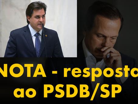 NOTA - resposta ao PSDB/SP