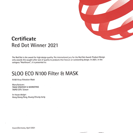SLO'O Air LabマスクがRed Dot 2021デザインプロダクト賞を受賞